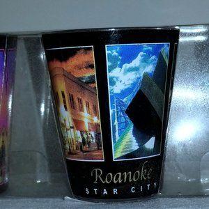ROANOKE VIRGINIA SET OF 3 SHOT GLASSES NWT